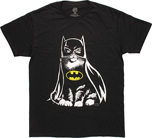 Batman Cat in Costume T-Shirt, Large