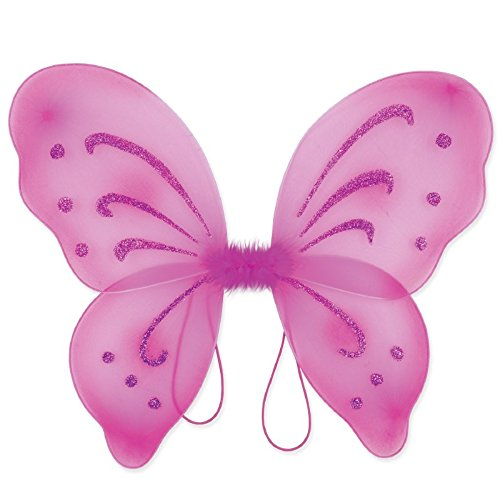 (Beistle Club Pack Fairytale Princess Costume Accessory Nylon Fairy Wings Hot Pink, Box of 12)