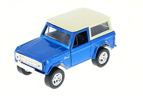 Jada 1973 Ford Bronco Truck, Blue 97051 - 1/32 Scale Diecast Model Toy Car