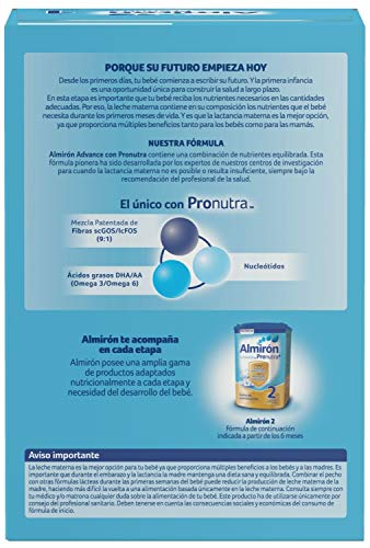Almiron Advance Pronutra 1 1200g - Formulated Milk - Up to 6 months - Baby Feeding Formula: Amazon.com: Grocery & Gourmet Food