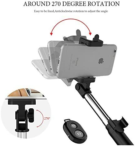 Compatible for Samsung A10 /& Most Android//iOS Smart Phones Wireless Bluetooth Selfie Stick and Tripod Combination