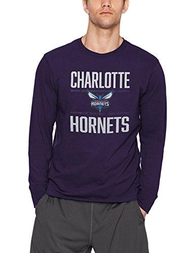 fan products of NBA Charlotte Hornets Men's OTS Rival Long Sleeve Tee, Purple, X-Large