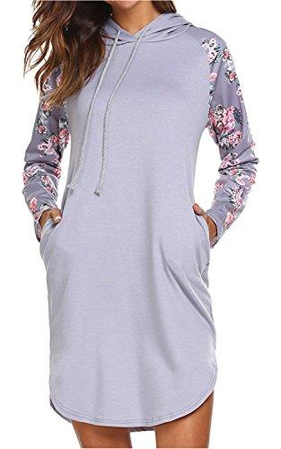 floral print sweater dress - 9
