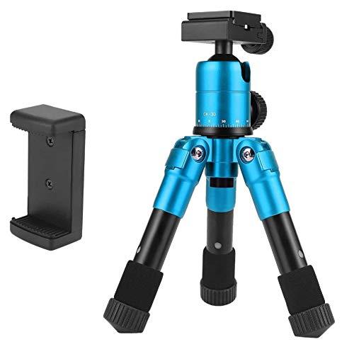 Owhelmlqff-Practical Camera Tripod,ZOMEI Mini Foldable Travel Tripod Ball Head Compact Holder for Phone DSLR Camera - Blue