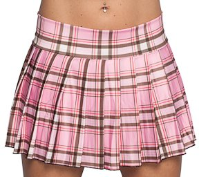 Amazon.com: Pink Plaid Skirt. Sexy Schoolgirl Skirt, Plus Size ...