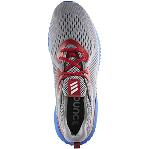adidas Performance Mens Alphabounce Em u Running Shoe Grey/Power Blue/Black