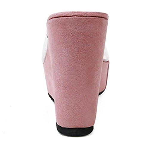 Tongs Flops Sandales Mode Frestepvie Toe Casual Femme Rose Chaussure Eté Eté Fille Clip Comfortable Paillettes Mule qxwdfPCdn