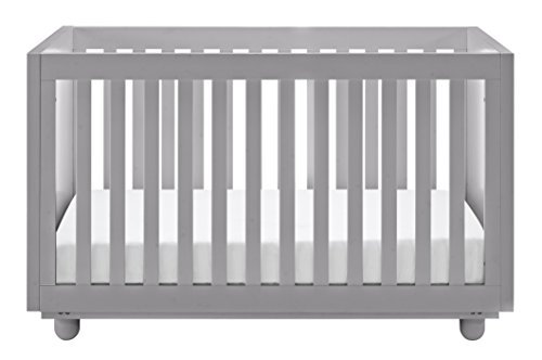 Storkcraft Violet 3-in-1 Convertible Crib, Pebble Gray Angel Line Nursery Crib