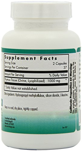 Nutricology Thymus, Vegicaps, 75-Count by Nutricology (Image #5)