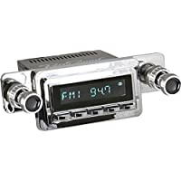 RetroSound M2C-125-54-74 Model Two Direct-Fit Radio for Classic Vehicles (Chrome Face/Buttons and Chrome Bezel)