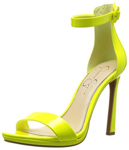 Jessica Simpson Women's PLEMY Heeled Sandal, Yellow Shock, 6 Medium US (Jessica Simpson Yellow Dress)
