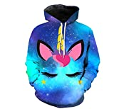 Girls Cute Galaxy Unicorn Hoodie Sweatshirt 4-8 Years (9-10 Years)