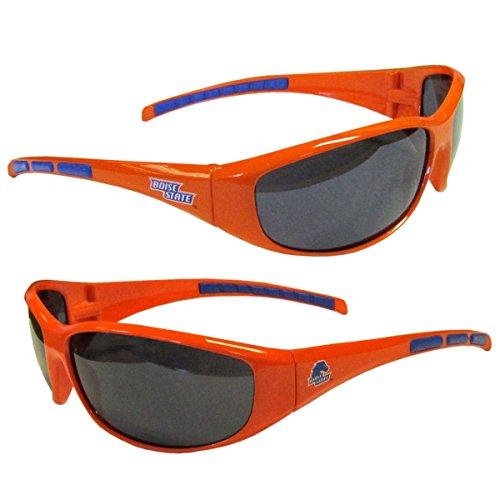 NCAA 3-Dot Wrap Sunglasses-UVA and UVB Protection-Many Teams! (Boise State Broncos)