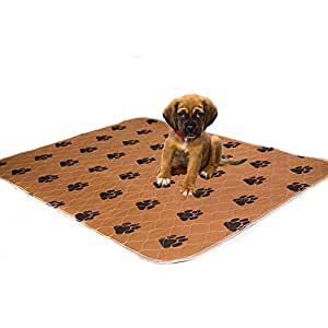 Washable Pee Pads For Dogs - Thick, Comfortable, Super Absorbent & 100% Leak Proof- Reusable Puppy Training Dog Mats - Simple solution for Dog Incontinence- Size LARGE 70x80 cm by KEAI OZZIE