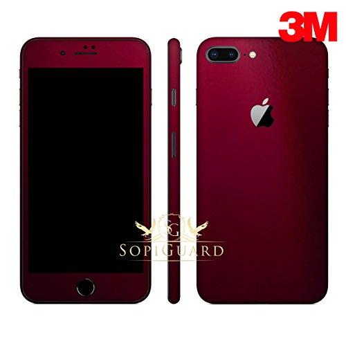 - SopiGuard Carbon Fiber Full Body Precision Edge-to-Edge Coverage Easy-to-Apply Vinyl Skin Sticker for iPhone 8 Plus (3M Gloss Wine Red)