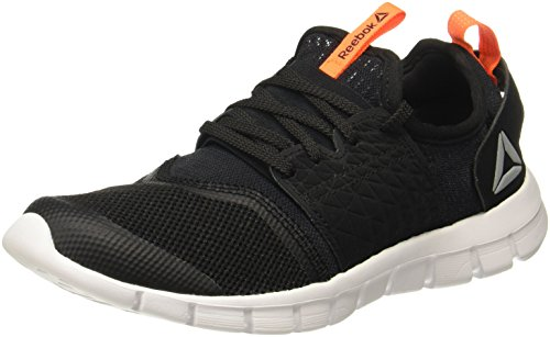 Reebok Men's Hurtle Runner Black/Wild Orange Running Shoes-8...