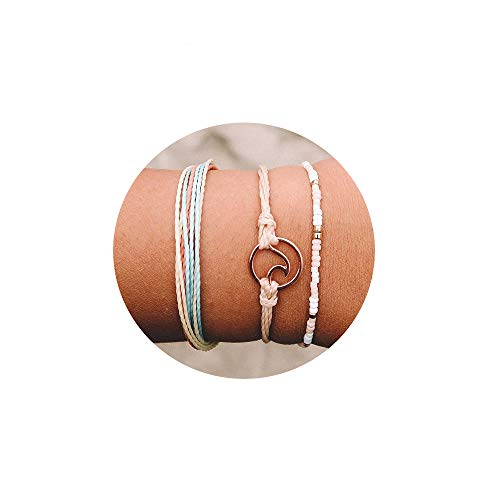 Handmade Braided Wax Rope Adjustable Strand Wrap Bracelet