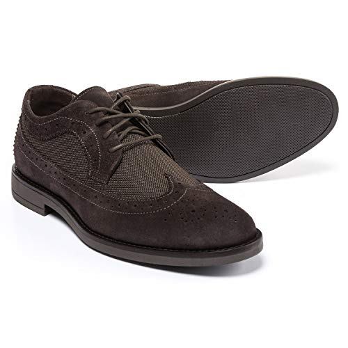 A Testoni Suede Oxfords - A. Testoni Made in Italy Diffusion Suede and Nylon Oxford Shoes (for Men) Size 9 Brown