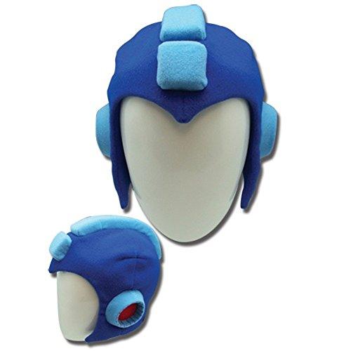 [Mega Man Plush Helmet] (Adult Megaman Costumes)
