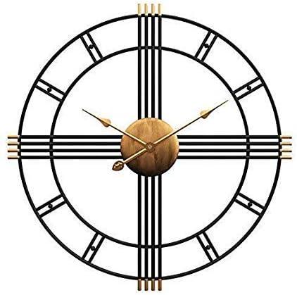 Funtabee - Reloj de Pared de 60cm, diseño de Esqueleto de Metal, Estilo Retro, Vintage, silencioso, sin tictac, diseño único Elegante, Ideal para Salones, cocinas, Pubs, lofts, cafés, 60cmx60cm