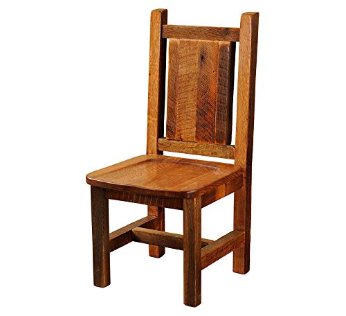 Wood & Style Furniture Dining Side Chair with Antique Oak Seat Home Office Commerial Heavy Duty Strong Décor