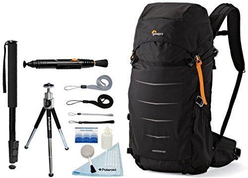 Lowepro Photo Sport BP 300 AW II Waterproof Photo Backpack (Black) + Accessory Bundle For Canon, Nikon, Sony, Olympus, Pentax Digital SLR Cameras Lowepro Water Resistant Digital Camera