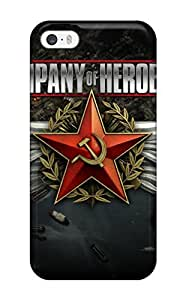 Premium Durable Company Of Heroes 2 Video Game Fashion Tpu Iphone 5/5s Protective Case Cover