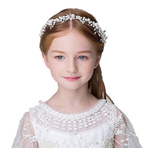 Headdress Flowers Crystal Pearls Rhinestones Beading Beautiful Girls