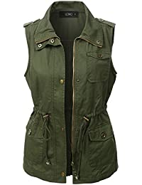 Womens Lightweight Sleeveless Military Anorak Vest