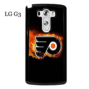LG G3 Case Cover Clear Design NHL Philadelphia Flyers Hockey Sports Team Logo Snap on Hard Plastic Phone Accessories for Men Collection Protective