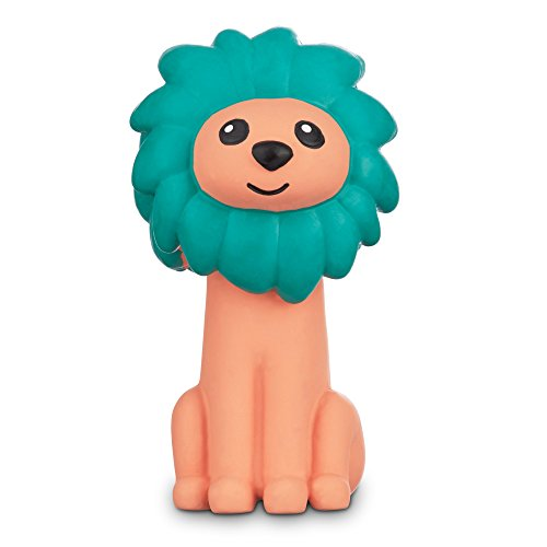 Leaps & Bounds Chomp and Chew Latex Green Mane Lion Dog Toy