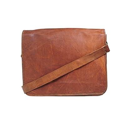 b15e873304 delicate Handmadecraft Vintage Men s Genuine Full Flap Leather Messenger  Bag Medium Brown