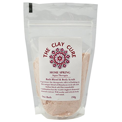 Indian Volcanic Clay (Bath Blend - Home Spring Bath & Body Scrub - 250g - Himalayan Rock Salt & Indian Volcanic Black Salt (Kala Namak) by The Clay Cure Company)