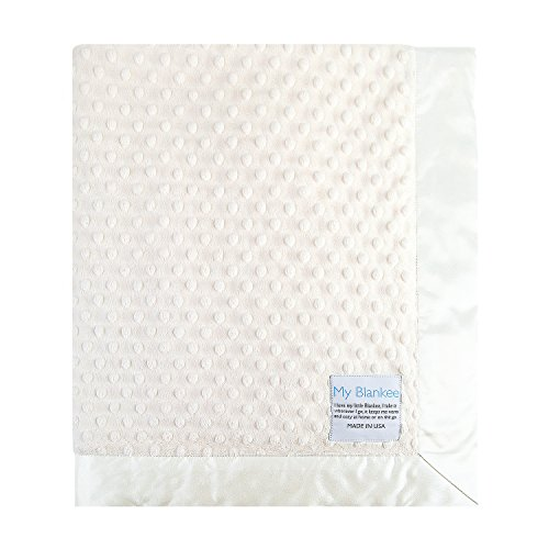 My Blankee Minky Dot Baby Blanket, Cream, 14
