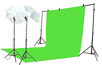 ePhoto K15-10x20G Chroma key Green Screen Lighting Kit with 10x20 Foot Green Muslin Backdrop  sc 1 st  Amazon.com : chroma key lighting kit - azcodes.com
