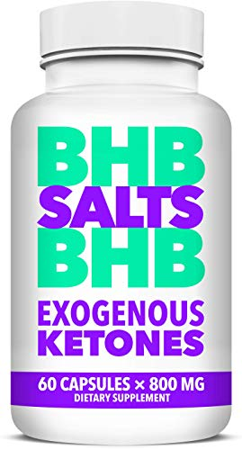 BHB Salts Exogenous Ketones – Best Weight Loss Pills with Beta-Hydroxybutyrate Salts – Advanced Keto Diet Supplements – Stomach Visceral Fat Burner for Men and Women, 60 Capsules For Sale