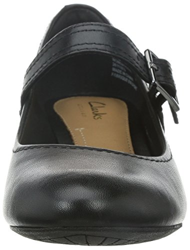 Clarks Denny Date Black Leather Black Leather