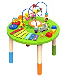 TOYSTERS Wooden Activity Table for Toddlers | Multi-Purpose Children's Educational Learning Play Toy Set | Playset Easel with Bead Maze, Shape Block Puzzle for 1 Year Old Boy and Girls | ED435