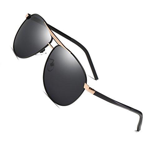 Mens Women Hot Classic Aviator Polarized Aluminum Sunglasses Vintage Aviator Black Sun Glasses For Men/Women