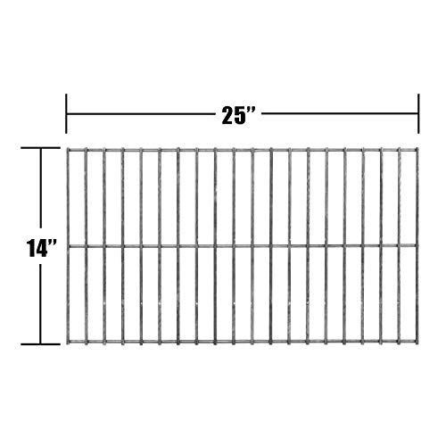 (Music City Metals 92301 Steel Wire Rock Grate Replacement for Select Charbroil and Patio Kitchen Gas Grill Models)