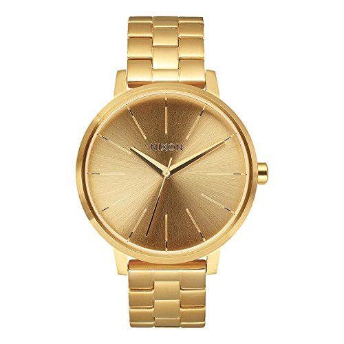 Nixon A099502 Kensington Gold Dial Steel Bracelet Women Watch NEW