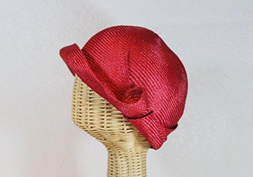 Women's Straw Miss Fisher Flapper Cloche in Red by Bonnet