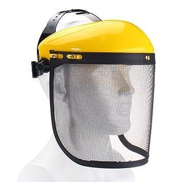 Eye Protection Large Steel Metal Mesh Visor Safety Helmet Hat for Chainsaw Brushcutter Full Face Protector Mask