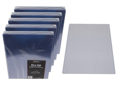 (100) 9 x 12 Topload Holders - Rigid Plastic Sleeves - BCW Brand by BCW Diversified