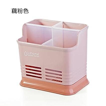 UWSZZ La mesa de la cocina de color caramelo cestas huecos de drenaje cubiertos de cocina