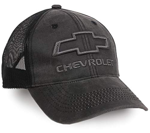 Racing Baseball Cap Hat (Outdoor Cap Chevrolet Mesh Back Cap, Black)