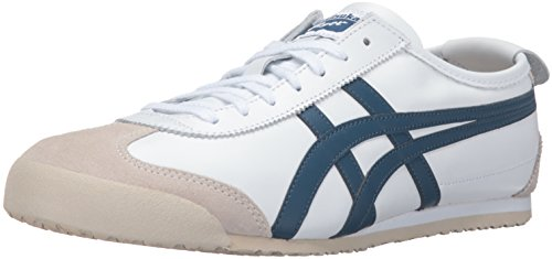Onitsuka Tiger Men's Mexico 66 Fashion Sneaker, White/Poseidon, 11.5 M