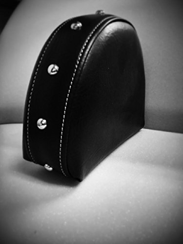 Grasshopper Limited Drivers Backrest for Indian Chief with two-piece seat Black 100% American Made, Quick Release Studded Includes Mounting Bracket