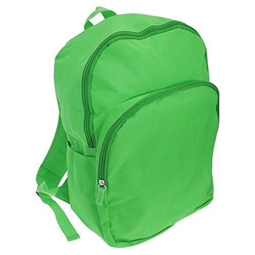 Mucky Fingers Unisex Kids Plain School Backpack Rucksack  One Size   Green