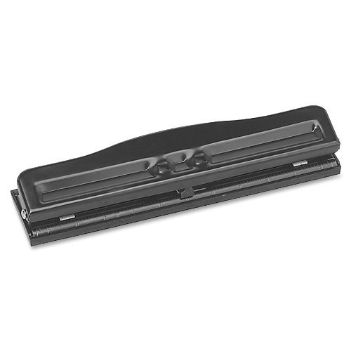 Sparco S.P. Richards Company Adjustable 3 Hole Punch, Adjustable, 1/4-Inch, Size, 8-10 Sheet Capacity, Black (SPR00786) by Sparco
